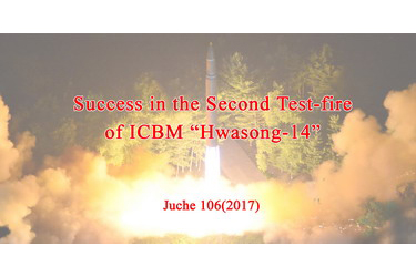 "Success in the Second Test-fire of ICBM ""Hwasong-14"""
