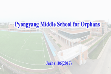 Pyongyang Middle School for Orphans