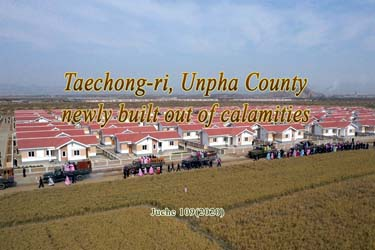 Taechong-ri, Unpha County newly built out of calamities